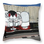 Walking By The Wall Throw Pillow