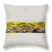 Walking Hills Throw Pillow