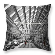Walking In Nyc Throw Pillow