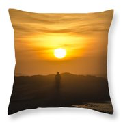 Walking In The Sunrise Throw Pillow