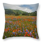 Walking In The Wildflowers Throw Pillow
