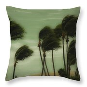Walking In The Wind Throw Pillow