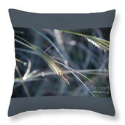Walking In Wind Throw Pillow