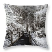 Walking Into The Infrared Jungle 1 Throw Pillow