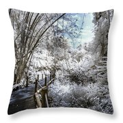 Walking Into The Infrared Jungle 2 Throw Pillow