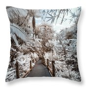 Walking Into The Infrared Jungle 3 Throw Pillow