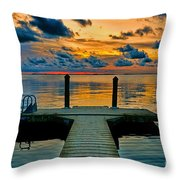 Walking Into The Sunset Throw Pillow