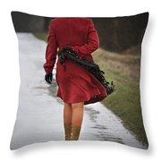 Walking Miles Throw Pillow