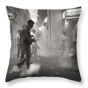 Walking On Clouds In Valencia Throw Pillow
