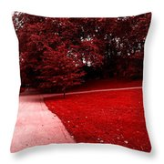 Walking On Mars Throw Pillow