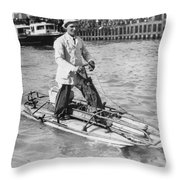 Walking On San Francisco Bay Throw Pillow