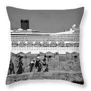 Walking On The Fortification Throw Pillow