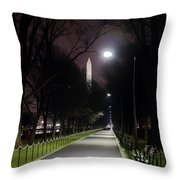Walking Path Along The Reflecting Pool Throw Pillow