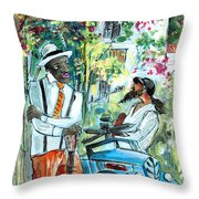 Walking Stick Man At The Blues Festival In Cazorla Throw Pillow