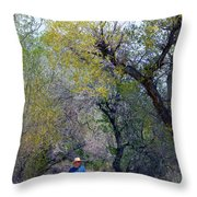 Walking The Path Throw Pillow