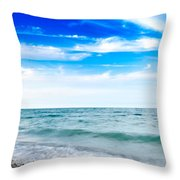 Walking The Shore - Extended Throw Pillow by Steven Santamour