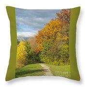 Walking Through Autumn Throw Pillow