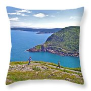 Walking Trails Everywhere In Signal Hill National Historic Site In St. John's-nl  Throw Pillow