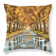 Walking Throw Pillow by Veronica Minozzi