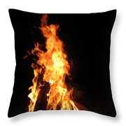Walking With A Walking Stock Throw Pillow