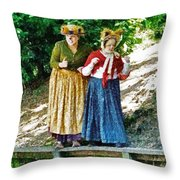 Walking With Squirrels  Throw Pillow