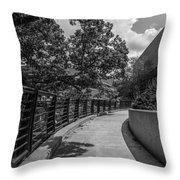 Walkway At Wharton Center Throw Pillow