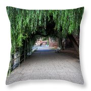 Walkway By The River Throw Pillow
