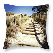 Walkway Throw Pillow by Les Cunliffe