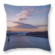 Walkway Over The Hudson Dawn Throw Pillow