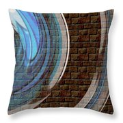 Wall 1 - Reunion Island - Indian Ocean Throw Pillow