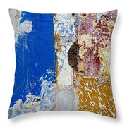 Wall Abstract 142 Throw Pillow