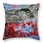 Wall Abstract 16 Throw Pillow