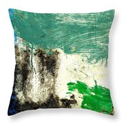 Wall Abstract 166 Throw Pillow