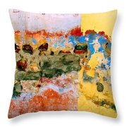 Wall Abstract 7 Throw Pillow