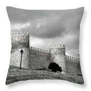 Wall Against Clouds Throw Pillow