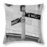 Wall And Broad Throw Pillow