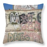 Wall Art Graffiti Concrete Walls Casa Grande Arizona 2004 Throw Pillow