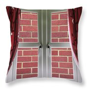Wall Build Close To A Closed Window Throw Pillow