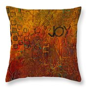 Wall Carvings Throw Pillow