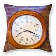 Wall Clock 1 Throw Pillow