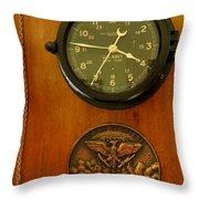 Wall Clock And Plague Throw Pillow