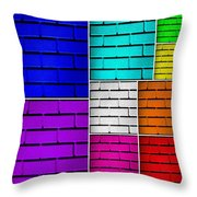 Wall Color Wall Throw Pillow by Semmick Photo