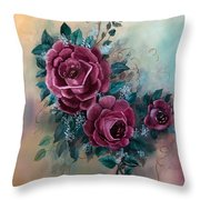 Wall Corsage Throw Pillow