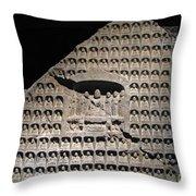 Wall Of Buddha Throw Pillow