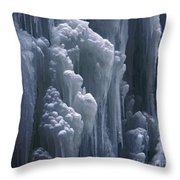 wall of ice in Partnach gorge 3 Throw Pillow