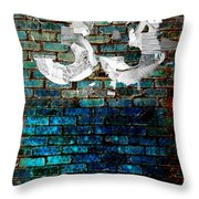 Wall Of Knowlogy Abstract Art Throw Pillow