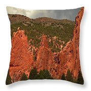 Wall Of The Gods Throw Pillow