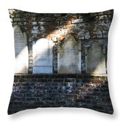 Wall Of Tombstones Knocked Down During Civil War Throw Pillow