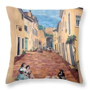 Wall Painting In Provence Throw Pillow