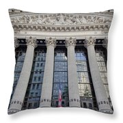 Wall Street New York Stock Exchange Nyse  Throw Pillow